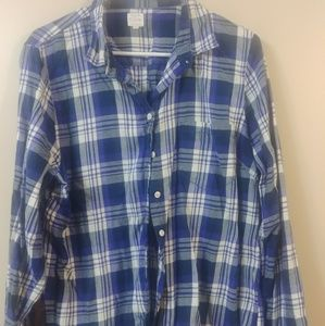 JCrew Plaid Flannel Button Down